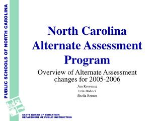 north carolina alternate assessment program