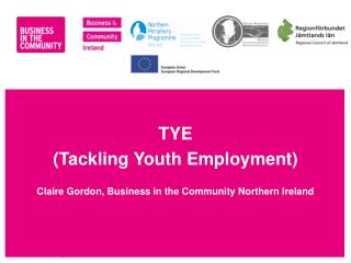 TYE (Tackling Youth Employment) Claire Gordon, Business in the Community Northern Ireland