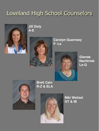 Loveland High School Counselors