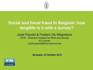 Brussels, 23 October 2013