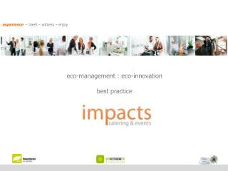 eco-management  :  eco-innovation best practice