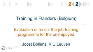 Training in  Flanders  ( Belgium )