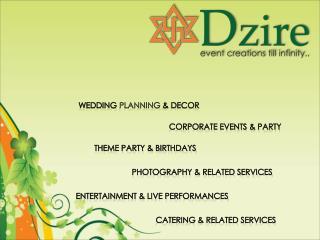 Wedding  planning  & Decor