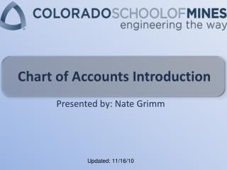 Chart of Accounts Introduction