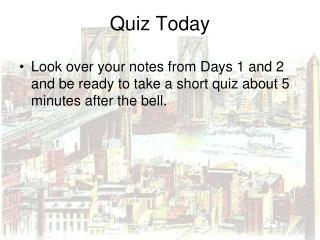 Quiz Today