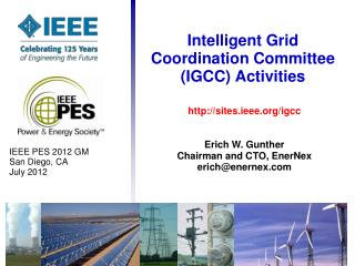 Intelligent Grid Coordination Committee (IGCC) Activities