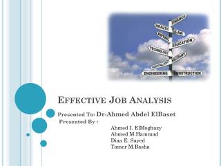 Effective Job Analysis