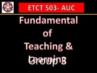 ETCT 503- AUC