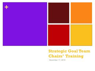 Strategic Goal Team  Chairs'   Training