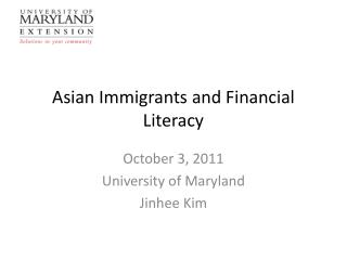 Asian Immigrants and Financial Literacy