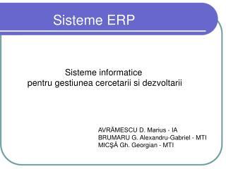 Sisteme  ERP