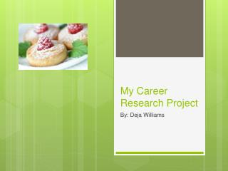My Career  Research Project