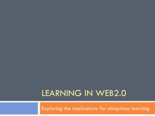 Learning in Web2.0