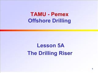 tamu - pemex offshore drilling