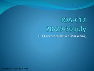 IOA-C12 28-29-30 July