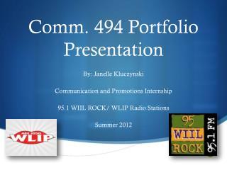 Comm. 494 Portfolio Presentation