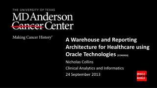 Nicholas Collins Clinical Analytics and Informatics 24 September 2013
