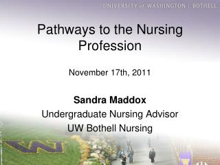Pathways to the Nursing Profession