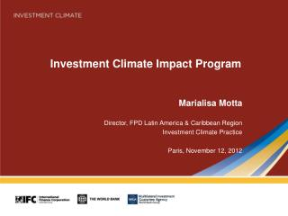 Investment Climate Impact Program