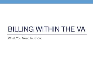 Billing Within the VA