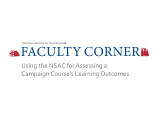Using the NSAC for Assessing a Campaign Course's Learning Outcomes