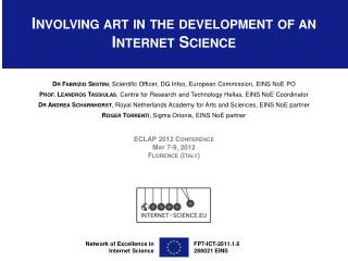 Involving art in the development of an Internet Science
