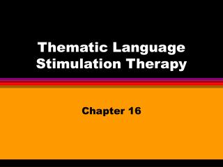 thematic language stimulation therapy