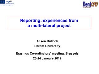 Reporting: experiences from  a multi-lateral project