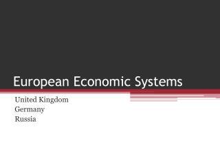 European Economic Systems