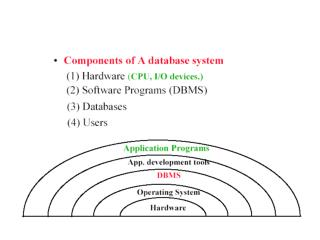The Role of DBMS in Computing