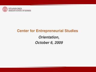 Center for Entrepreneurial Studies