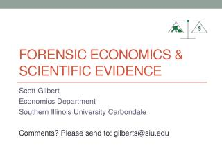 Forensic Economics & Scientific Evidence