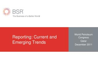 Reporting: Current and Emerging Trends