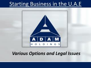 Various Options and Legal Issues