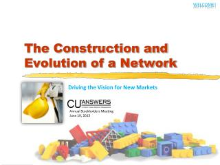 The Construction and Evolution of a Network