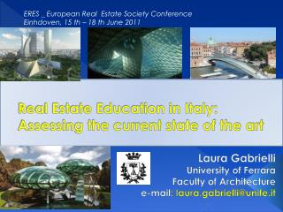 Real Estate Education in Italy: Assessing the current state of the art
