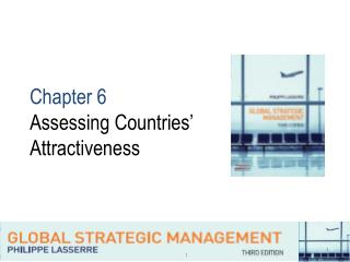 Chapter 6  Assessing Countries'  Attractiveness