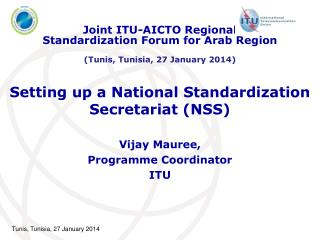 Setting up a National Standardization Secretariat (NSS)