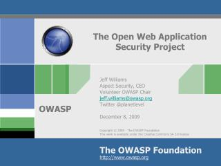 The Open Web Application Security Project