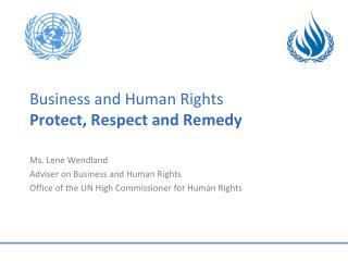 Business  and Human  Rights Protect, Respect and Remedy