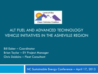 Alt Fuel and Advanced Technology Vehicle initiatives in the Asheville Region