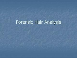 forensic hair analysis