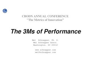 "CBODN ANNUAL CONFERENCE ""The Metrics of Innovation"""