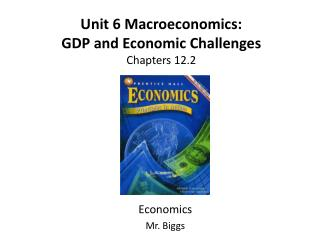 Unit 6 Macroeconomics: GDP and Economic Challenges Chapters  12.2