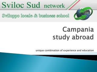 Campania  study abroad unique combination of experience and education