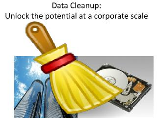 Data Cleanup:  Unlock the potential at a corporate scale
