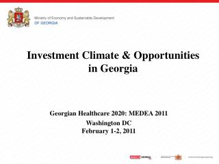 Investment Climate & Opportunities  in Georgia
