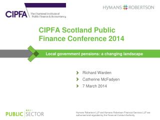 CIPFA Scotland Public Finance Conference 2014