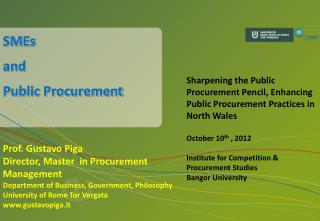 SMEs  and  Public Procurement