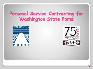 Personal Service Contracting for Washington State Ports